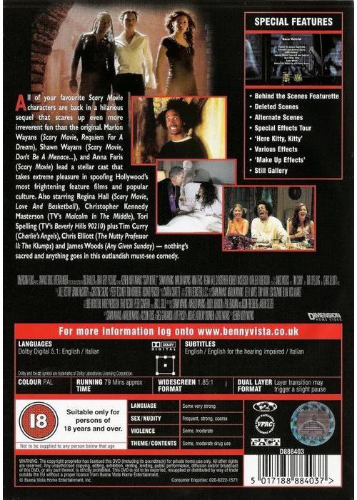 Dvd Scary Movie 2 Ebay